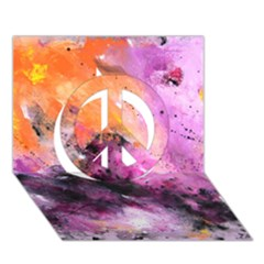 Nebula Peace Sign 3d Greeting Card (7x5)  by timelessartoncanvas