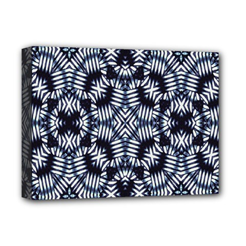 Futuristic Geometric Print  Deluxe Canvas 16  X 12   by dflcprints
