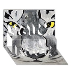 The Eye Of The Tiger You Rock 3d Greeting Card (7x5)  by timelessartoncanvas