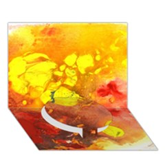 Fire, Lava Rock Circle Bottom 3d Greeting Card (7x5)  by timelessartoncanvas