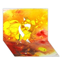 Fire, Lava Rock Ribbon 3d Greeting Card (7x5)  by timelessartoncanvas