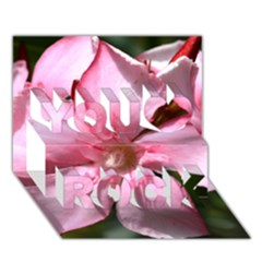 Pink Oleander You Rock 3d Greeting Card (7x5)  by timelessartoncanvas