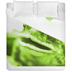 Green Frog Duvet Cover (double Size) by timelessartoncanvas