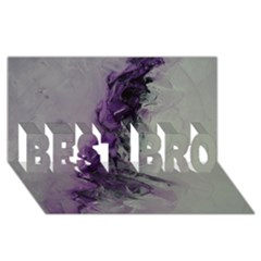 The Power Of Purple BEST BRO 3D Greeting Card (8x4)