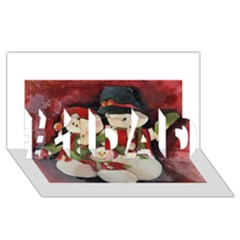 Snowman Family No  2 #1 Dad 3d Greeting Card (8x4)  by timelessartoncanvas