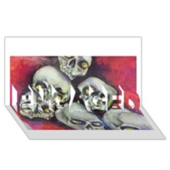 Halloween Skulls No 1 Engaged 3d Greeting Card (8x4)  by timelessartoncanvas