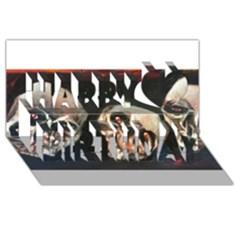 Halloween Skulls No  2 Happy Birthday 3d Greeting Card (8x4)  by timelessartoncanvas
