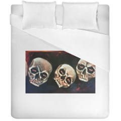 Halloween Skulls No  2 Duvet Cover (double Size) by timelessartoncanvas