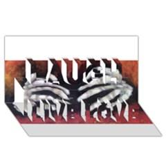 Halloween Bones Laugh Live Love 3d Greeting Card (8x4)  by timelessartoncanvas