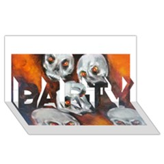 Halloween Skulls No  4 Party 3d Greeting Card (8x4)  by timelessartoncanvas