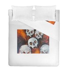 Halloween Skulls No. 4 Duvet Cover (Twin Size) by timelessartoncanvas