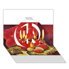 Holiday Candles  Peace Sign 3d Greeting Card (7x5)  by timelessartoncanvas