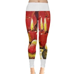 Holiday Candles  Women s Leggings by timelessartoncanvas