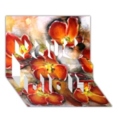 Fall Flowers You Did It 3d Greeting Card (7x5) by timelessartoncanvas
