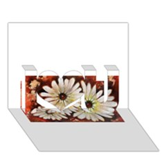 Fall Flowers No  3 I Love You 3d Greeting Card (7x5)  by timelessartoncanvas