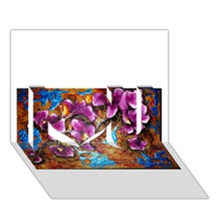 Fall Flowers No  5 I Love You 3d Greeting Card (7x5)  by timelessartoncanvas