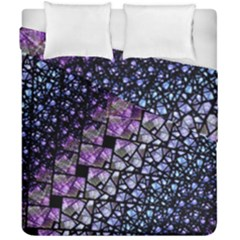 Dusk Blue And Purple Fractal Duvet Cover (double Size) by KirstenStar