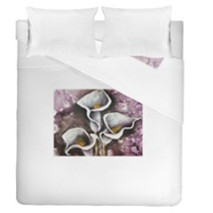 Gala Lilies Duvet Cover (full/queen Size) by timelessartoncanvas
