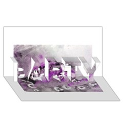 Shades Of Purple Party 3d Greeting Card (8x4)  by timelessartoncanvas