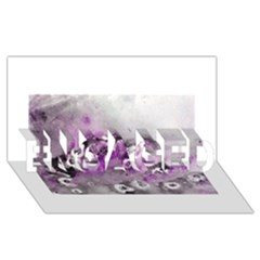Shades Of Purple Engaged 3d Greeting Card (8x4)  by timelessartoncanvas