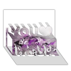 Shades Of Purple You Rock 3d Greeting Card (7x5)  by timelessartoncanvas