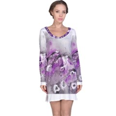 Shades of Purple Long Sleeve Nightdresses by timelessartoncanvas