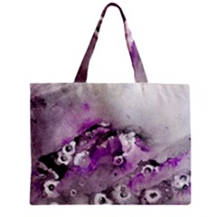Shades of Purple Zipper Tiny Tote Bags by timelessartoncanvas