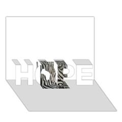 Unique Zebra Design Hope 3d Greeting Card (7x5)  by timelessartoncanvas