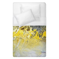 Bright Yellow Abstract Duvet Cover Single Side (single Size) by timelessartoncanvas