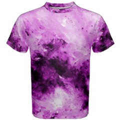 Bright Pink Abstract Men s Cotton Tees by timelessartoncanvas