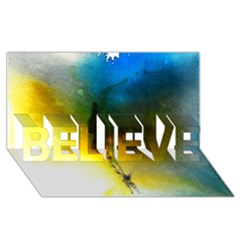 Watercolor Abstract Believe 3d Greeting Card (8x4)  by timelessartoncanvas