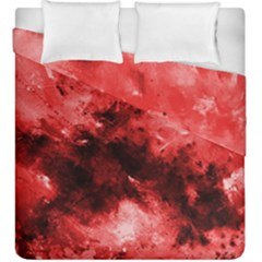Red Abstract Duvet Cover (King Size) by timelessartoncanvas