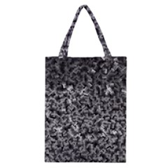 Gray Cubes Classic Tote Bags