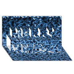 Blue Cubes Merry Xmas 3d Greeting Card (8x4)  by timelessartoncanvas