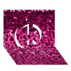 Pink Cubes Peace Sign 3d Greeting Card (7x5)  by timelessartoncanvas