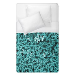 Teal Cubes Duvet Cover Single Side (single Size) by timelessartoncanvas
