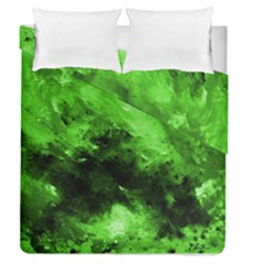 Bright Green Abstract Duvet Cover (full/queen Size)
