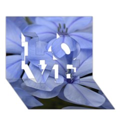 Bright Blue Flowers Love 3d Greeting Card (7x5)  by timelessartoncanvas