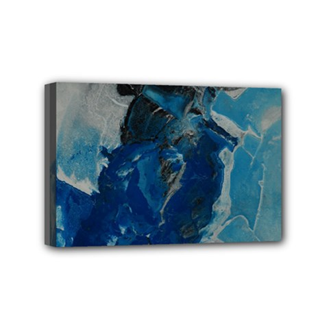 Blue Abstract Mini Canvas 6  x 4  by timelessartoncanvas
