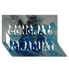 Blue Abstract Congrats Graduate 3d Greeting Card (8x4)  by timelessartoncanvas