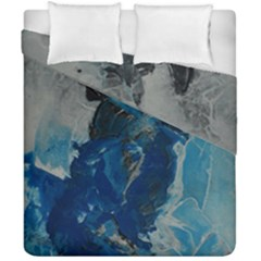 Blue Abstract Duvet Cover (double Size) by timelessartoncanvas