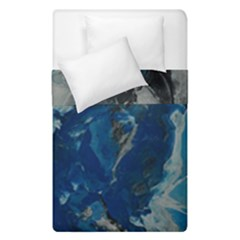 Blue Abstract Duvet Cover (single Size) by timelessartoncanvas
