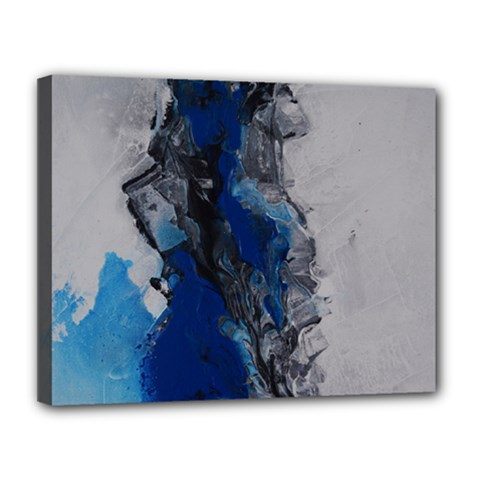 Blue Abstract No 3 Canvas 14  X 11  by timelessartoncanvas