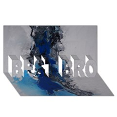 Blue Abstract No.3 BEST BRO 3D Greeting Card (8x4)