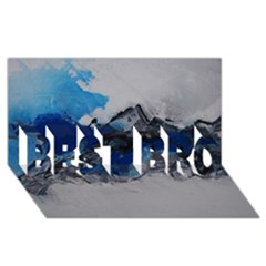 Blue Abstract No.4 BEST BRO 3D Greeting Card (8x4)  by timelessartoncanvas