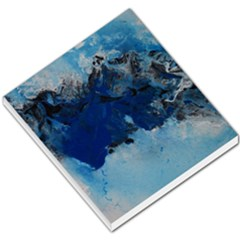 Blue Abstract No 5 Small Memo Pads by timelessartoncanvas