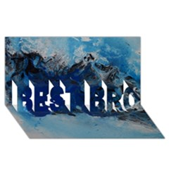 Blue Abstract No 5 Best Bro 3d Greeting Card (8x4)