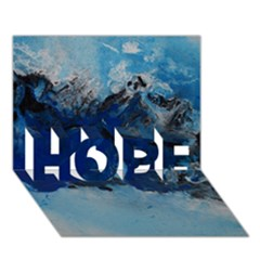 Blue Abstract No 5 Hope 3d Greeting Card (7x5)  by timelessartoncanvas