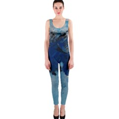 Blue Abstract No 5 Onepiece Catsuits by timelessartoncanvas