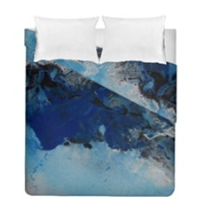 Blue Abstract No 5 Duvet Cover (twin Size) by timelessartoncanvas